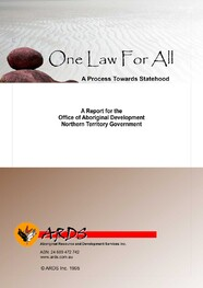 One Law For All: A process towards statehood