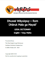 Legal Dictionary: Djambarrpuyngu
